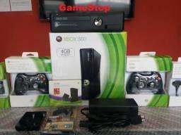 Xbox 360 Slim Destravado HD500GB com 8000 Jogos Lançamentos (Loja GameStop)