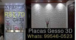 Placas Gesso 3D a partir de R$1,70 cada