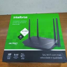 Roteador Wireless Action Intelbras Rf 1200 Smart Dual Band, novo, sem uso e na embalagem.