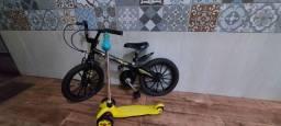 Bicicleta Batman e Patinete