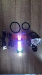 Título do anúncio: Lanterna bicicleta dianteira e traseira