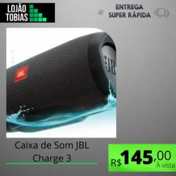 Título do anúncio: Caixa de Som JBL Charge 3 portátil Black