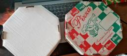 Caixa De Pizza Estampada Oitavada Número 25 - 50 Caixas Completa