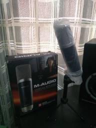 Microfone M-audio (USB)