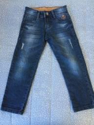 Calça jeans Gangster e brim Milon tamanho 4