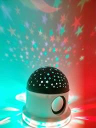Abajur Luminária Céu Estrelado C/ Caixa de Som Bluetooth