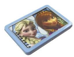 Estojo Metálico Frozen Da Disney Com 02 Blocos De Notas