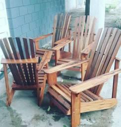Cadeiras Poltrona adirondack PAVÃO