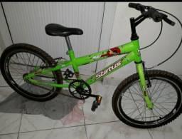 Bicicleta bike verde para criança até 7 anos