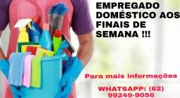 Título do anúncio: EMPREGADO DOMÉSTICO AOS FINAIS DE SEMANA