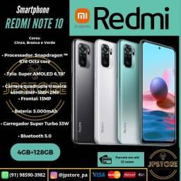 REDMI NOTE 10 4/128GB COM GARANTIA!