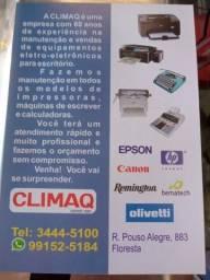 Conserto e venda de impressoras;