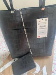 Bolsa em couro Zara
