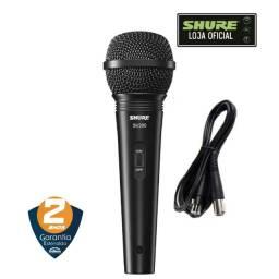 Título do anúncio: Microfone Shure Com Fio Sv200 + Cabo | 2 Anos De Garantia | Produto Novo - Loja Física