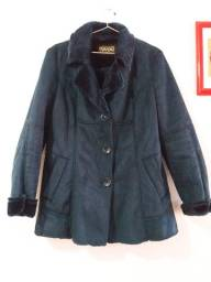 Título do anúncio: Lindo casaco azul quentinho( veste 42-44)