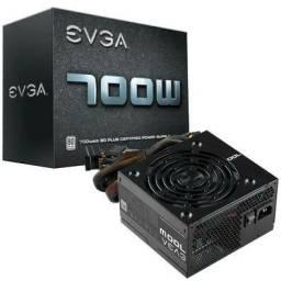 Fonte EVGA  700W REAL, ATX 80PLUS 700w White, novo, original, lacrado de Fábrica