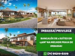 Imbassai Privilege, Bangalôs de 2 suítes em 158m² - Oportunidade