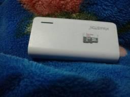 Carregador portátil e cartão de memória