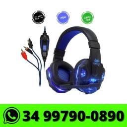 Fone Headset Gamer Knup com Led