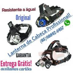 Título do anúncio: Lanterna de cabeça profissional Resistente a água entrega Grátis