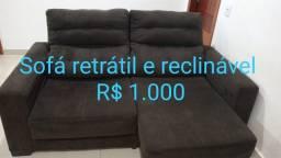 Título do anúncio: Sofa semi novo reclinavel.
