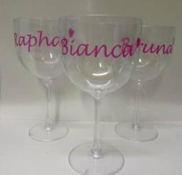 Título do anúncio: Taça de Gin Acrílico 500 ml Personalizado, logo, frases, aniver, casamento, brindes