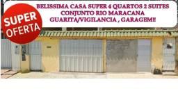 Casa em FloresConjunto Rio Maracanãespaçosa4 quartos2suítes  bela áreaexterna Guaritavigia