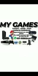 Vídeo games e manetes