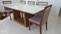 Título do anúncio: Mesa de madeira e pintura laka pronta entrega 8 lugares
