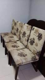 Conjunto de 4 cadeiras forro impermeável