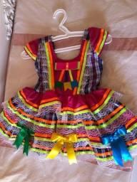 Vestido São João feminino bebê