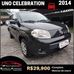 Uno Vivace Celebration 2014 Completo! Banco Couro!