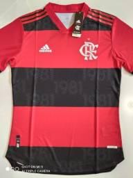 Camisa Flamengo Home Player Adidas 21/22 - Tamanho: M