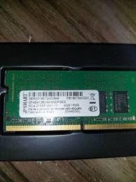 Título do anúncio: Memoria Ram 4Gb DDR4 marca Smart para notebook