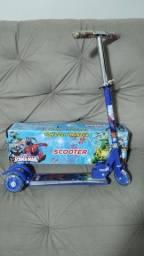 Patinete Scooter 3 rodas c/ led e música