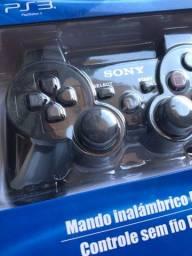 Título do anúncio: PLAYSTATION 3 CONTROLES NOVOS!!!!
