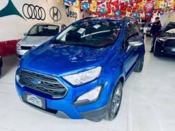 Título do anúncio: Ford EcoSport Freestyle 1.5 12V Flex 5p Automatica 2018 Azul Completa Linda !