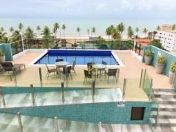 Apartamento todo projetado, 2 quartos, à 50 m da praia do Bessa