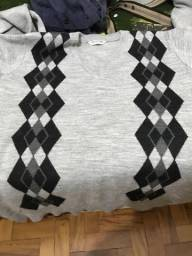 Suéter cinza pouco usado tamanho P