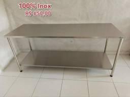 Queima de estoque Mesas INOX100% 140x 60