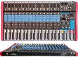 Mesa de som Soundvoice 16 Canais com efeitos MS162 Eux + Garantia Nf
