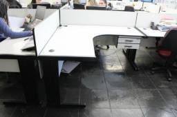 Mesa de Escritório em L Ciama c/ gaveteiro 2 gavetas Office - 1,70 x 1,45