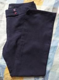 Calça social cintura alta