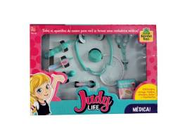 Brinquedo Educativo Kit Médica Judy Life Estetoscópio Otoscópio