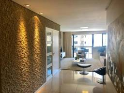 Apartamento com 3 suítes + gabinete todo nascente a 100 metros da praia