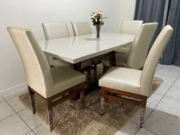 Mesa nova 1.60x90 com 6 cadeiras