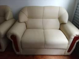 Conjunto sofá dois e três lugares