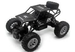 Carro Jeep Controle Remoto Off Road 4x2 Rock Crawler 1:18 Preto
