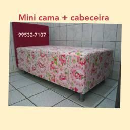 CAMA + Cabeceira (Mini 1.50 x 0.80) DIRETO FÁBRICA