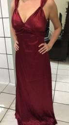 Vestido de festa longo cor vermelha